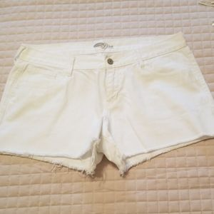 ON white jean shorts